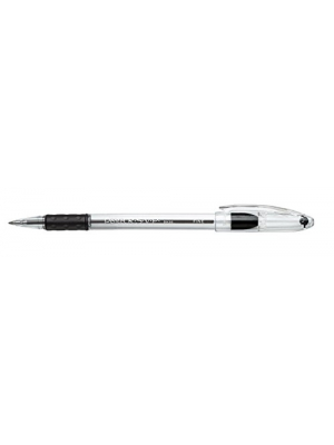 Pentel BK90A R.S.V.P. Stick Ballpoint Pen, .7mm, Trans Barrel, Black Ink (Pack of 12)