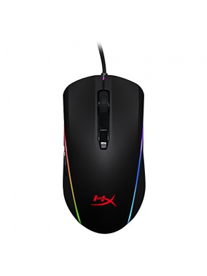 HyperX Pulsefire Surge - RGB Gaming Mouse, Software Controlled 360° RGB Light Effects & Macro Customization, Pixart 3389 Sensor up to 16,000DPI, 6 Programmable Buttons, Mouse Weight 100g (HX-MC002B)