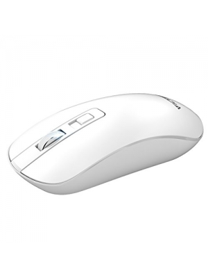 VicTsing 4-Button Slim Silent Wireless Mouse,3 Adjustable CPI Levels,Silent Click with USB Nano Receiver and ON-Off Switch for PC, Laptop, Computer and Mac-White