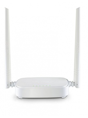 Tenda N301 N300 Wireless Wi-Fi Router, Easy Setup, Up to 300Mbps, White
