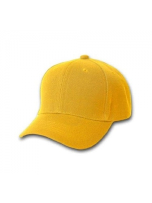 Plain Baseball Cap Blank Hat Solid Color Velcro Adjustable - Black, Blue, Green, Tan, Gold, Light Blue, Maroon, Pink, Purple, Red, Royal Blue, White, Orange, Yellow, Brown (Yellow)