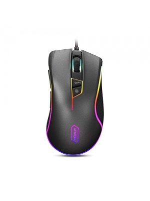 HIRALIY Gaming Mouse Wired 9 Programmable Buttons Chroma RGB Color Backlit 5000 DPI Adjustable Optical Sensor PMW3325