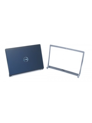 "Genuine Dell T924F P613X M138C LCD Cover Top Lid Bezel Kit Assembly with Hinges in Matte Black and Silver. For Dell Studio 1535, 1536, and 1537 Notebook Laptop Systems, Fits Laptop Notebooks With 15.4""-Inch Screen Monitor, Includes 15.4""-Inch LC"
