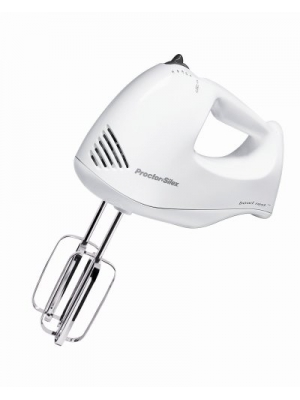 Proctor Silex Plus 62545 Hand Mixer, White