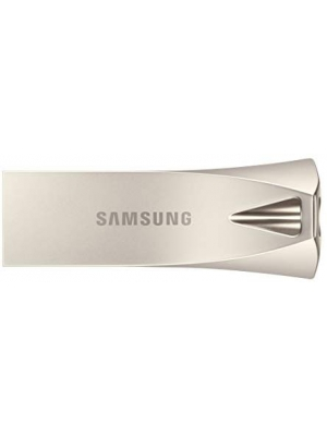 Samsung BAR Plus USB 3.1 Flash Drive 128GB - 300MB/s (MUF-128BE3/AM) - Champagne Silver