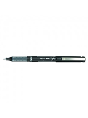 Pilot 35334 Precise V5 Roller Ball Stick Pen, Precision Point, Black Ink, .5mm (Pack of 12)