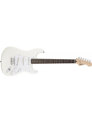 Squier by Fender Bullet Stratocaster Electric Guitar - Hard Tail - Rosewood Fingerboard - Arctic White