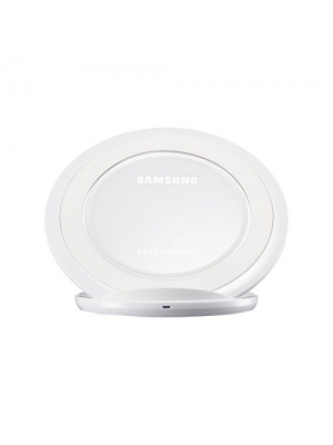 Samsung Fast Charge Qi Wireless Charging Pad Charger (Stand Type) With Retail Packaging For Samsung Galaxy S7 & S7 Edge, Note5, Galaxy S6 edge+, International Version - No US Warranty (White)