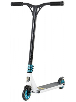 STAR-SCOOTER® Original Pro Sport Complete Leight Weight Stunt Scooter for Adults, Teenager and for Kids over 7 years | For Beginners up to Advanced Skill Riders with Alloy Wheels 110mm | White & Blue