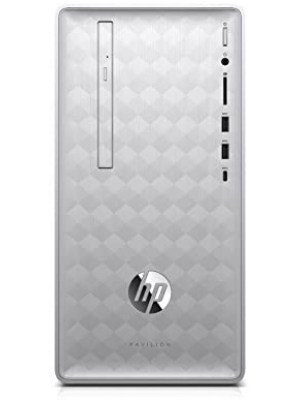 HP Pavilion (590-p0050) Desktop Computer with Intel Core i5+8400 Processor, 8GB RAM and 16 GB Intel Optane Memory, 1TB Hard Drive, Windows 10 (Silver)