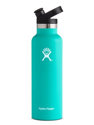 Hydro Flask 21 oz Double Wall Vacuum Insulated Stainless Steel Sports Water Bottle, Standard Mouth with BPA Free Sport Cap