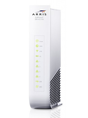 ARRIS SURFboard SBR-AC1750 2nd Generation WiFi Router- Retail Packaging- White (SBR-AC1750)