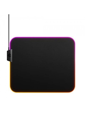 SteelSeries QcK Prism Cloth Gaming Mouse Pad - 2-Zone RGB Illumination - Realtime Event Lighting - Optimized For Gaming Sensors - Size M
