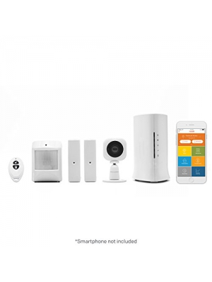 Home8 Video-Verified Security System - Wireless Home Security Alarm System with HD Camera, Alarm Sensors, Indoor Siren, and Free Basic Service