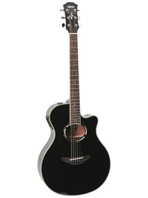 Yamaha APX500III Thinline Cutaway Acoustic-Electric Guitar, Black