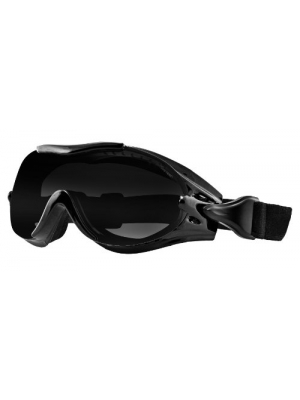 Bobster Phoenix OTG Interchangeable Goggles, Black Frame/3 Lenses (Smoked, Amber and Clear)