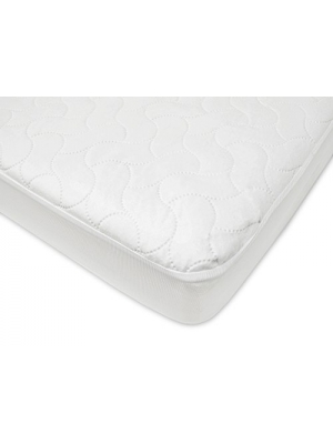 American Baby Company Waterproof Fitted Crib and Toddler Protective Mattress Pad Cover, White