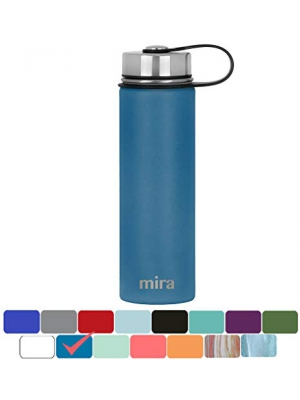 MIRA Stainless Steel Vacuum Insulated Wide Mouth Water Bottle | Thermos Flask Keeps Water Stay Cold for 24 hours, Hot for 12 hours | Metal Bottle BPA free cap