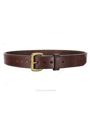 "Daltech Force Bull Hide Leather Belt - Stitched 1.5"" Wide CCW Concealed Carry Gun Belt 15-16 oz Thickness - Made in USA"