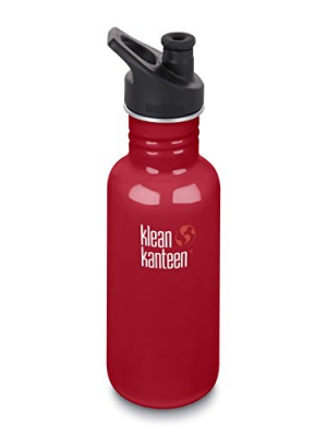 Klean Kanteen Classic Stainless Steel Water Bottle with Klean Coat, Single Wall and Leak Resistant Sport Cap 3.0 (New 2018)