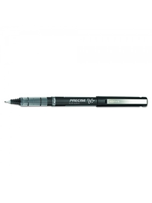 Pilot Precise V7 Roller Ball Stick Pen, Precision Point, Ink, .7mm, Pack of 12, Black (35346)