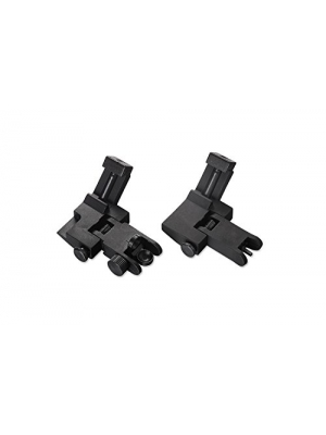 AR15 AR 15 Front and Rear flip up Rifle 45 Degree Offset Micro Rapid Transition BUIS Backup Iron Sight