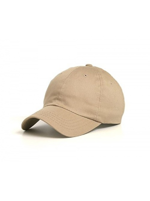 Wholesale Low Profile Dyed Soft Hand Feel Cotton Twill Caps Hats (Khaki) - 21203