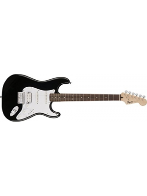 Squier by Fender Bullet Stratocaster Electric Guitar - HSS - Hard Tail - Rosewood Fingerboard - Black