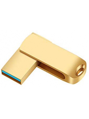 USB Flash Drive 256gb External Storage Thumb Drive Portable USB Stick Pen Drive Keychain Memory Stick for Daily Storage(Gold)