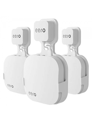Wall Mount Holder for eero Home WiFi and eero Pro WiFi System-Simple and Sturdy Wall Mount Holder Stand Bracket Without Messy Wires or Screws (White(3 Pack))