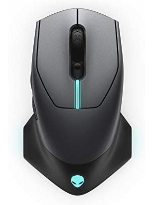 Alienware Wired/Wireless Gaming Mouse AW610M: 16000 DPI Optical Sensor - 350 Hour Rechargeable Battery Life - 7 Buttons - 3-Zone Alienfx RGB Lighting