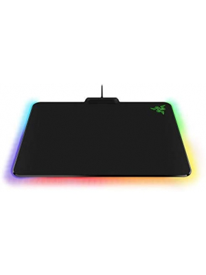 "Razer Firefly Chroma Cloth Gaming Mouse Pad: Customizable Chroma RGB Lighting - 14""x10"" - Balanced Control & Speed - Non-Slip Rubber Base"