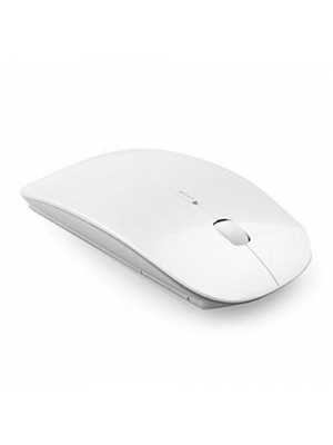 LANDFOX Slim 2.4 GHz Optical Wireless Mouse + Receiver For Laptop PC Mac(White)