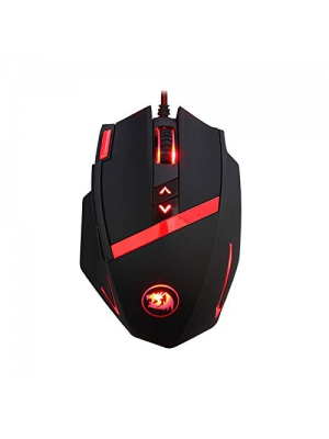 Redragon M801 Gaming Mouse Wired, Programmable 9 buttons, MMO RGB LED Mice, 16400 DPI, Laser Sensor, Weight Tuning Set, 5 User Profiles for Windows PC Games - Black