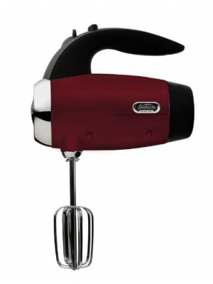 Sunbeam 2560 Heritage Series 6-Speed 250-Watt Hand Mixer, Red by Sunbeam