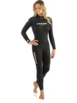 Cressi MAYA, Diving Snorkeling Women's Wetsuit 2.5mm in Premium High Stretch Neoprene Quality Since 1946