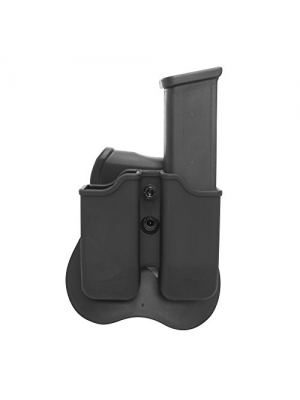 Smith and Wesson, Ruger, Sig Sauer Double Stack Magazine Holder Pouch Holster with Paddle, For 9mm, 0.40 Caliber. Fit more models under Beretta, Refer to Model Details and Photo to Determine Fit First