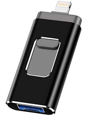 iOS Flash Drive for iPhone Photo Stick 256GB PANGUK Memory Stick USB 3.0 Flash Drive Lightning Thumb Drive for iPhone iPad Android and Computers (Black-256GB)