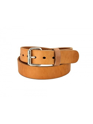 Daltech Force RoughCut - Concealed Carry CCW Natural Leather Gun Belt - 15-17 oz Full Grain Leather Belt