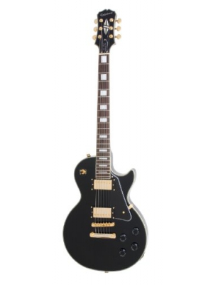 Epiphone Les Paul CUSTOM PRO Electric Guitar with Coil Tapping, Ebony