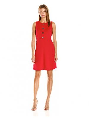 Tommy Hilfiger Women's Turn Key Tommy Ponte Fit and Flare