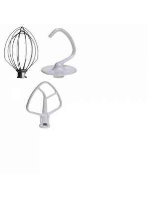 KitchenAid Attachments, Replacement Dough Hook, Wire Whip and Beater for KitchenAid K45 Mixers