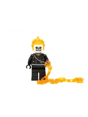 LEGO Marvel Super Heroes Minifigure - Ghost Rider with Flame Chain (76058)