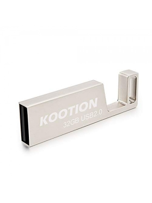 KOOTION 32GB USB Flash Drive Waterproof Metal Memory Stick Cell Phone Stand Design Thumb Drive, Silver
