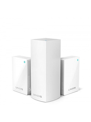 Linksys Velop Plug-in Home Mesh WiFi System Bundle (Dual/Tri-Band Combo) - WiFi Router/WiFi Extender for Whole-Home Mesh Network (3-pack, White)
