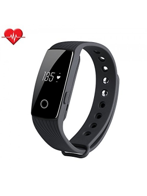 Fitness Tracker Heart Rate Monitor, TINCINT ID107 Fitness Watch Activity Tracker Bluetooth 4.0 Calorie Counter Life-Waterproof Fitness Band with Soft Silicon Wristband for Android iOS Smartphones