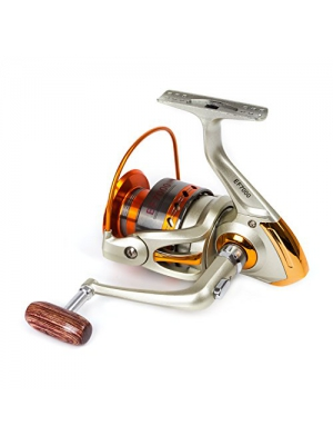 SUNVP Full Metal New Style Aluminum Saltwater Freshwater High Speed Fishing Reels Spinning Left/Right Gold
