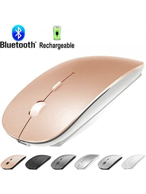 Bluetooth Mouse for MacBook pro/MacBook air/Laptop/iMac/ipad, Wireless Mouse for MacBook pro MacBook Air/iMac/Laptop/Notebook/pc (Rose Gold)
