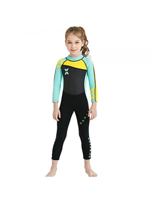 dark lightning 3mm Wetsuit Women, Women's Wetsuit Long Sleeve Full Suit with Premium Neoprene, Kids 2mm One Piece Wet Suits for Fishing,Scuba Diving,Surfing, Swimsuit Kids for Girls