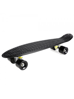 "Ancheer 24"" Cruiser Skateboard Complete Mini Retro Plastic Skate Board"